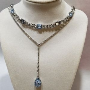 Simply Vera Vera Wang Faux Blue Topaz Necklace New
